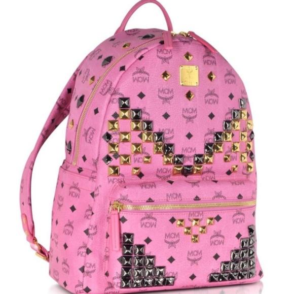 MCM Bags | Studded Bookbag Size Large | Poshmark